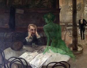 """Viktor Oliva - """"Der Absinthtrinker"""" 1901"""