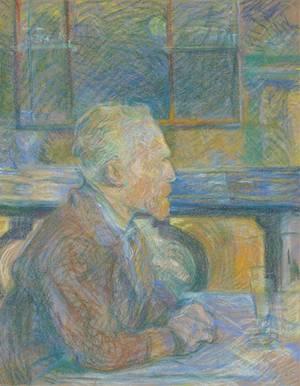 Toulouse Lautrec 1887 - Abbildung zeigt Vincent van Gogh